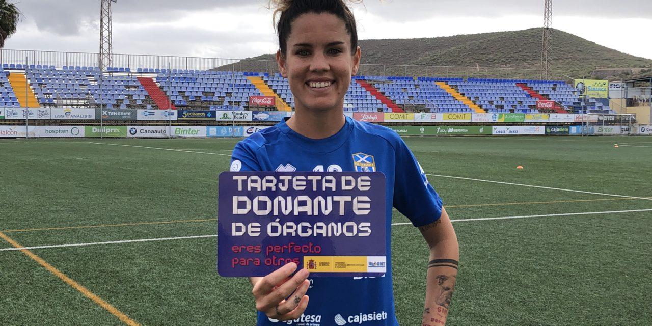 Cindy García, emblema e historia del Granadilla Tenerife se suma al reto de la donación de órganos