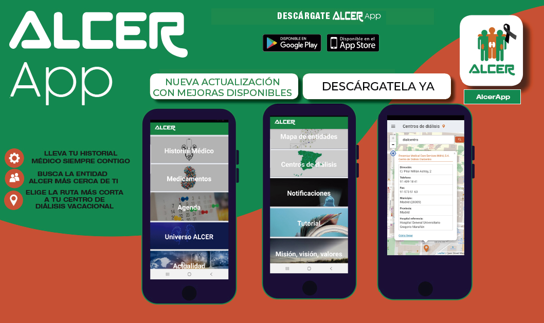 AlcerApp: Disponible en PLAYSTORE y APP STORE