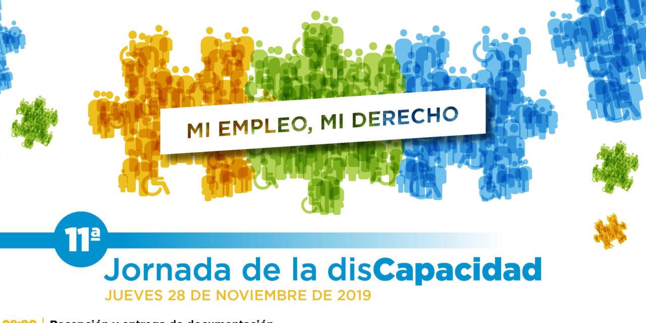 """11ª Jornadas de la discapacidad bajo el título: """"MI EMPLEO, MI DERECHO"""""""