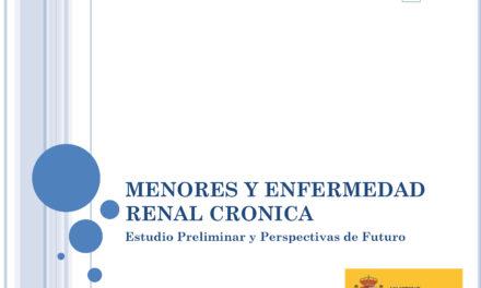 MENORES Y ENFERMEDAD RENAL CRONICA: Estudio Preliminar y Perspectivas de Futuro