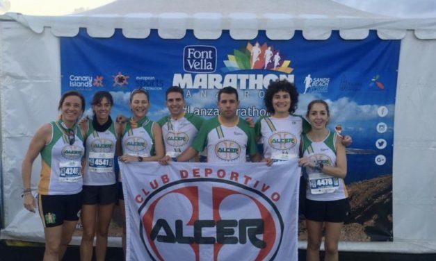 El Club Deportivo ALCER Salamanca en la Lanzarote International Marathon
