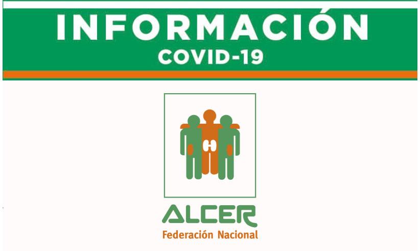 Información ALCER referente al COVID-19 Día 16 de Marzo de 2020