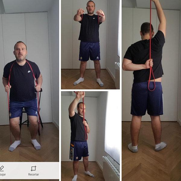 El fisioterapeuta de ALCER Turia nos enseña pautas de fisioterapia