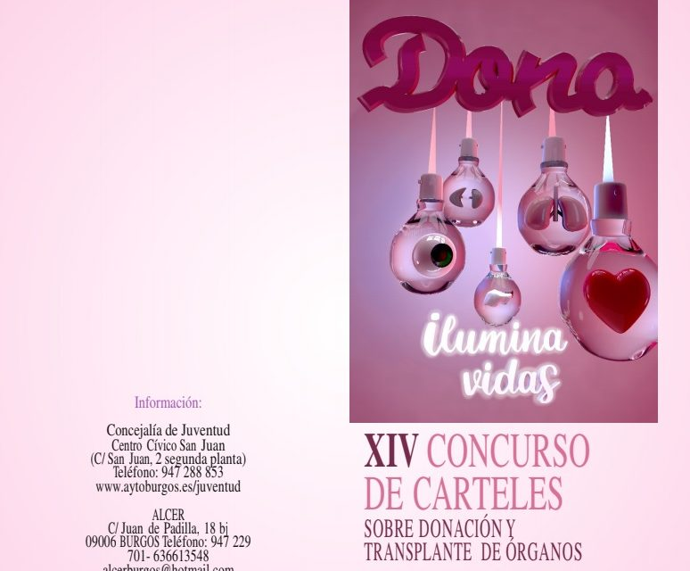 Alcer y el Ayuntamiento de Burgos convocan el XIV Concurso de Carteles sobre Donación y Transplante de Órganos