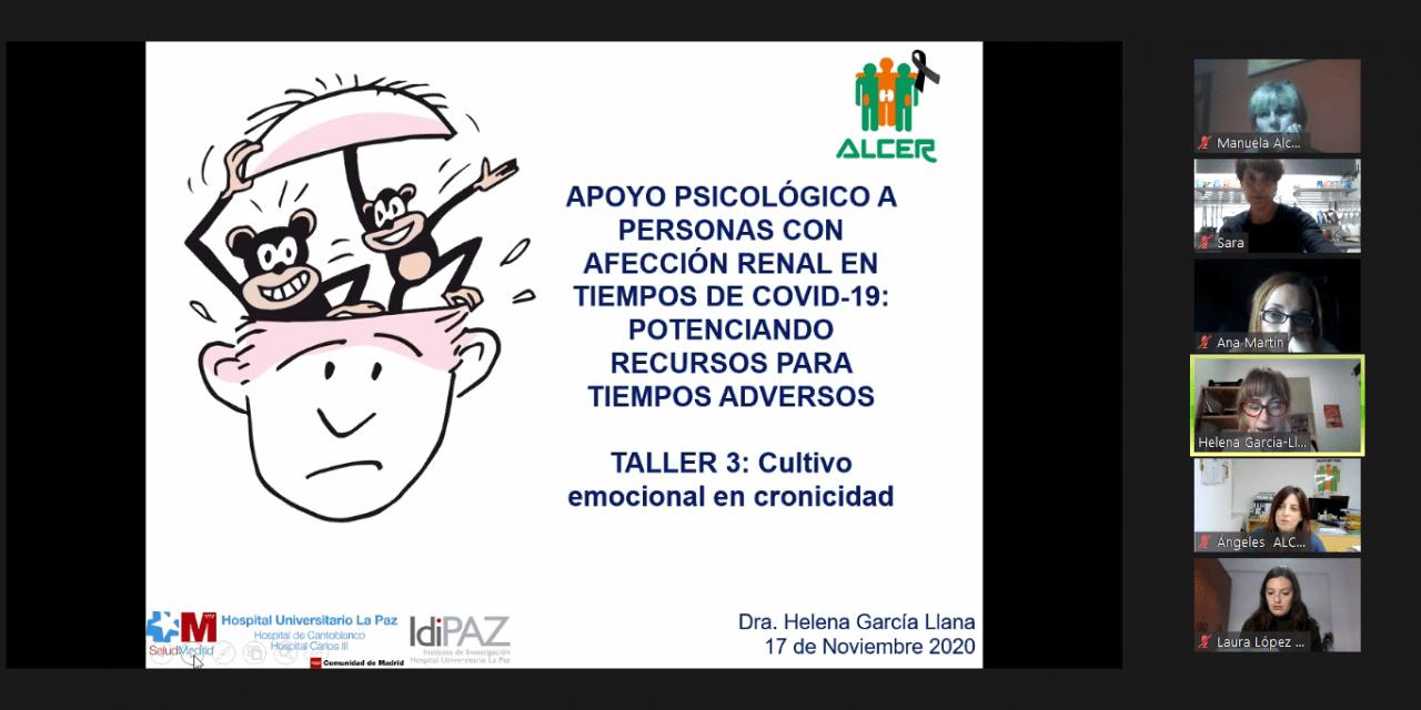 """Los profesionales de la psicología de ALCER analizan el """"Cultivo emocional"""" en tiempos de pandemia"""