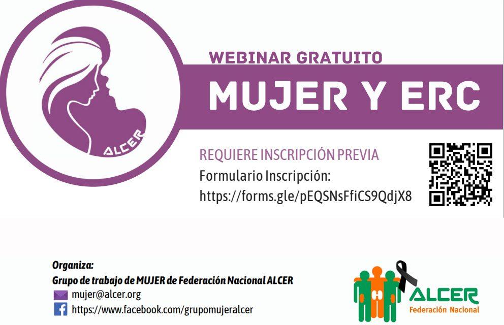ALCER celebra un webinar dedicado a la mujer con enfermedad renal