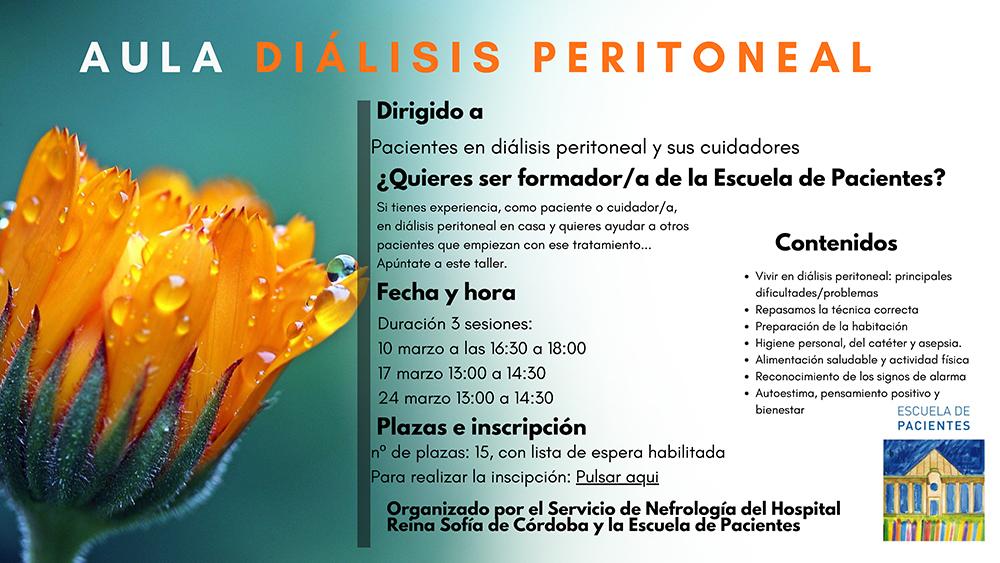 Aula de Diálisis Peritoneal para pacientes en diálisis peritoneal y cuidadores