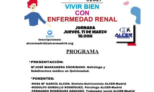 ALCER Madrid, celebra una jornada online por el Día Mundial del Riñón