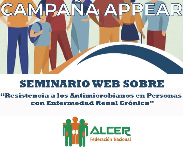 SEMINARIO WEB SOBRE RESISTENCIA A LOS ANTIMICROBIANOS EN PERSONAS CON ENFERMEDAD RENAL CRÓNICA