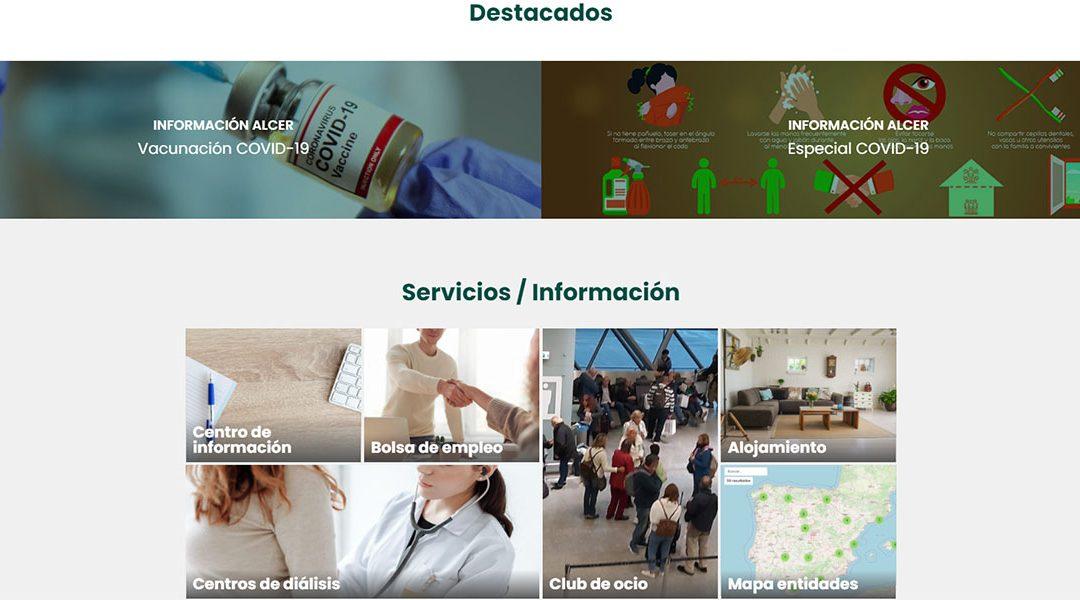 La Federación Nacional de Asociaciones ALCER estrena nueva web