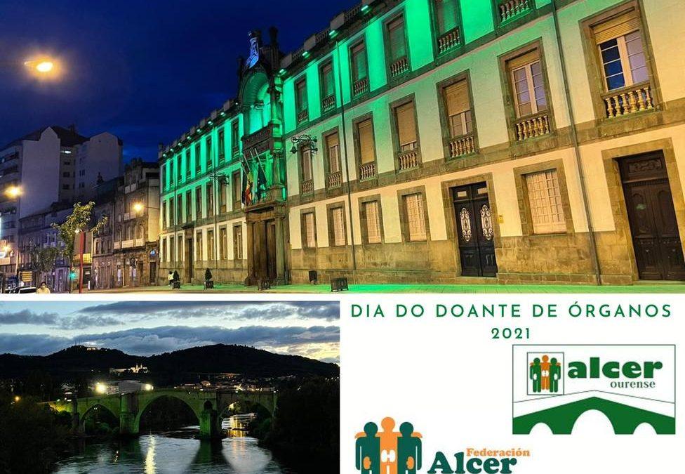 Alcer iluminó monumentos en Ourense