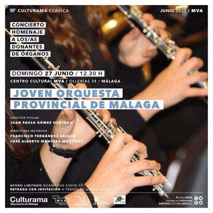 La Diputación y Alcer Málaga han organizado un concierto en homenaje a los donantes de órganos