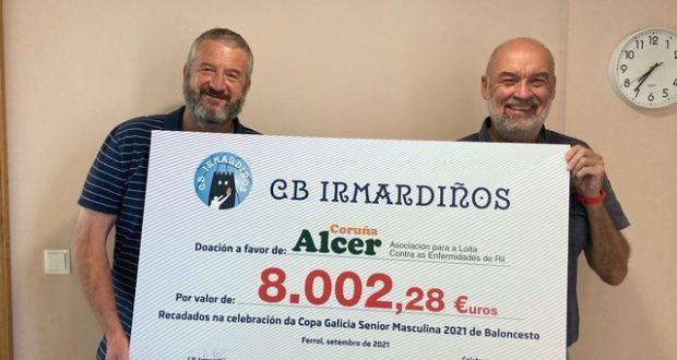 La final de la Copa Galicia de baloncesto reunió más de 8.000 euros para Alcer