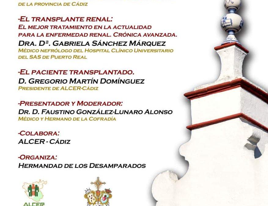 La hermandad de los Desamparados de San Fernando organiza una mesa redonda sobre la donación de órganos