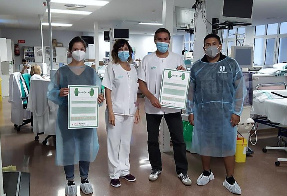 Alcer Huesca activa un proyecto piloto de rehabilitación en la sala de hemodiálisis